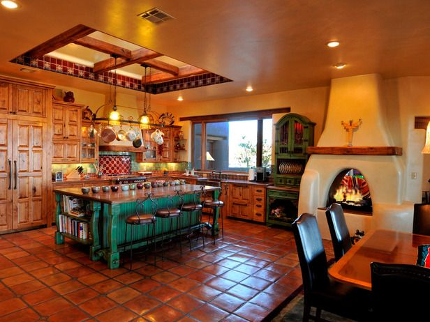 10 Rustic Spaces We Love From Rate My Space Decorating Hgtv Western Kitchen Decor Mexican Style Kitchens Mexican Kitchen Decor