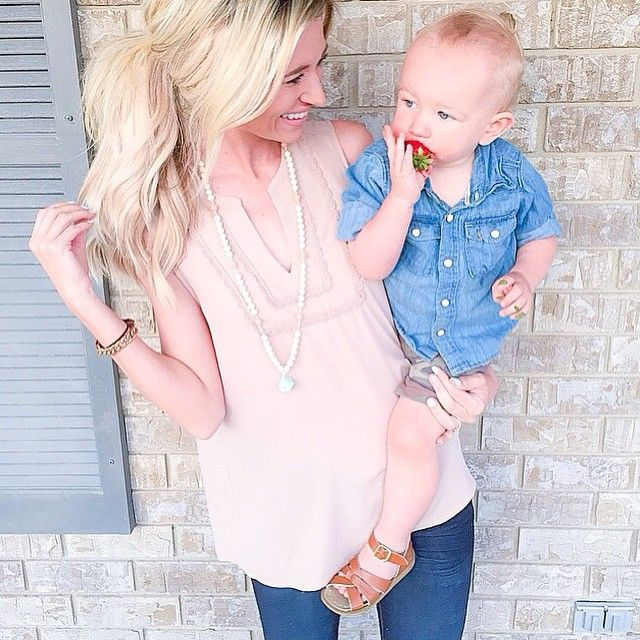 With Mother's Day around the corner, we asked our favorite blogger moms what was the best advice their moms gave them or what piece of advice they would give to their kids. Head over to our blog (link in bio) to read the full story and shop their Mother's Day picks! (p.s. how adorable is @nataliedarlingblog in our Detailed Trim Sleeveless Blouse with her equally adorable son? Shop it online or in stores now).