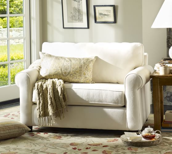 Buchanan Roll Arm Upholstered Twin Sleeper Sofa With