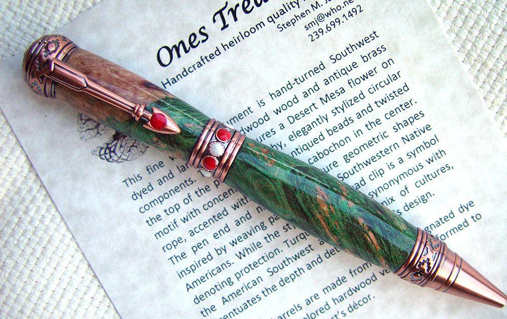 Ballpoint Pen Pen Handcrafted Pen Hand Turned Custom Pen