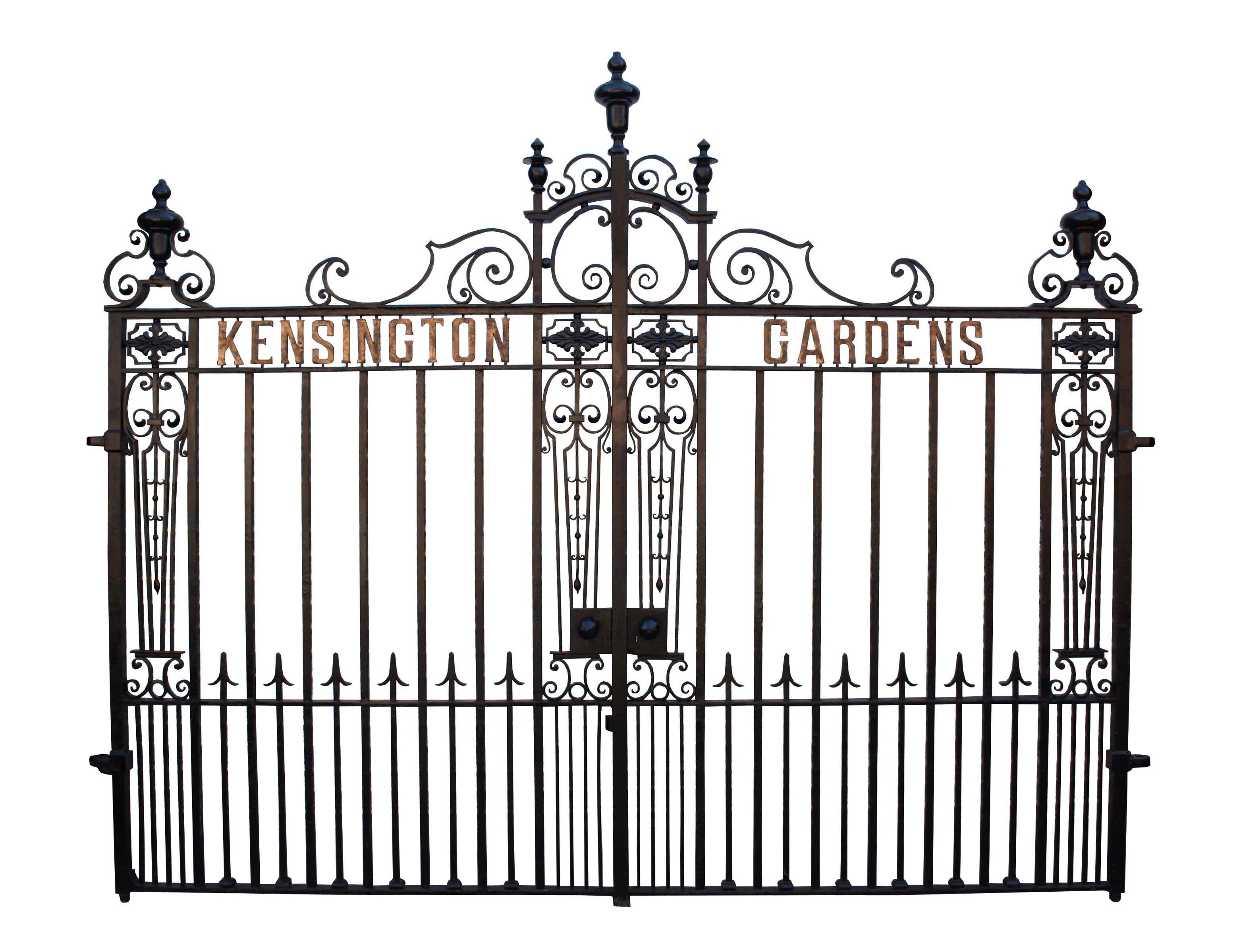 Superb Set Of 19th Century Wrought Iron Driveway Gates Wrought