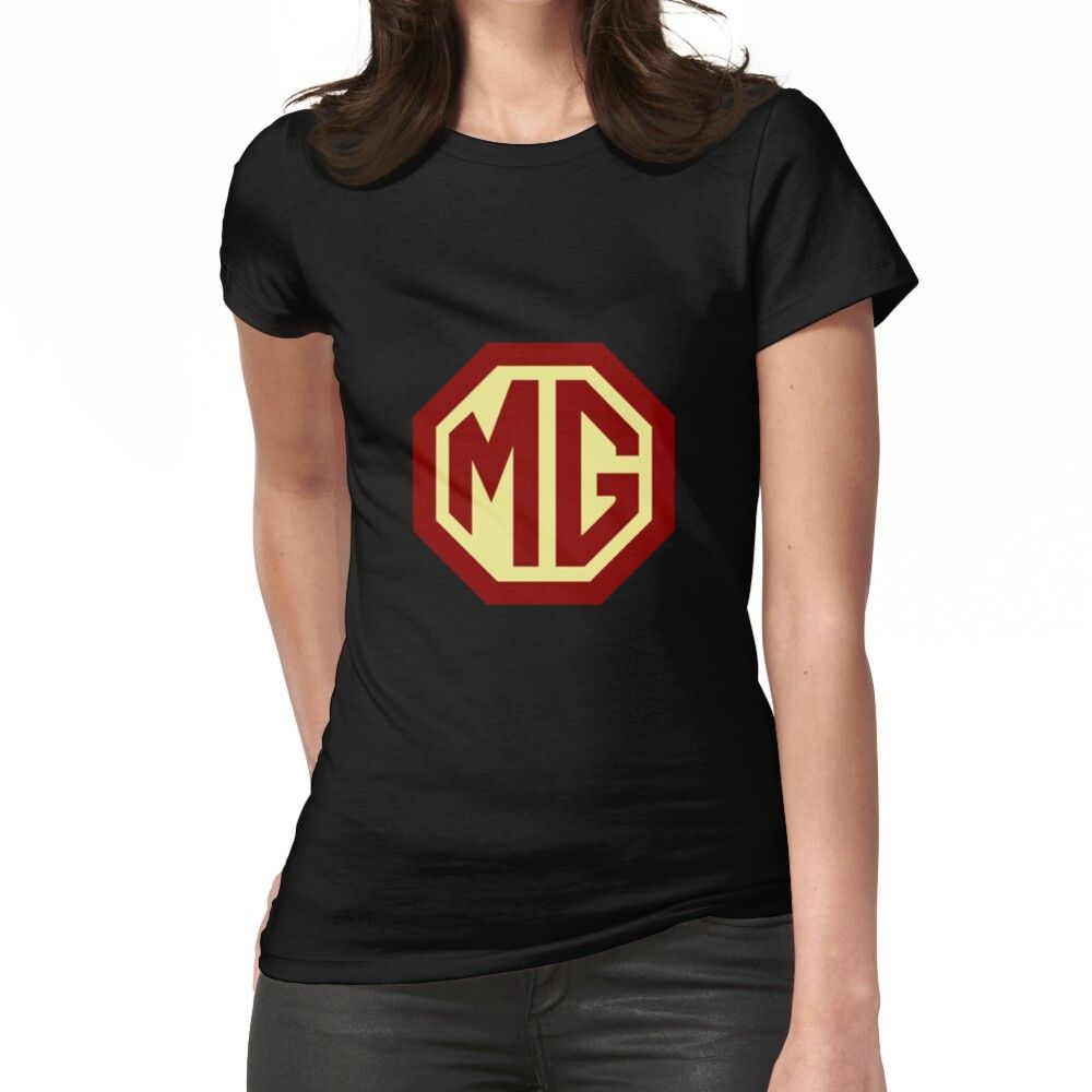 'Classic Cars Logo - MG' Fitted T-Shirt by brookestead