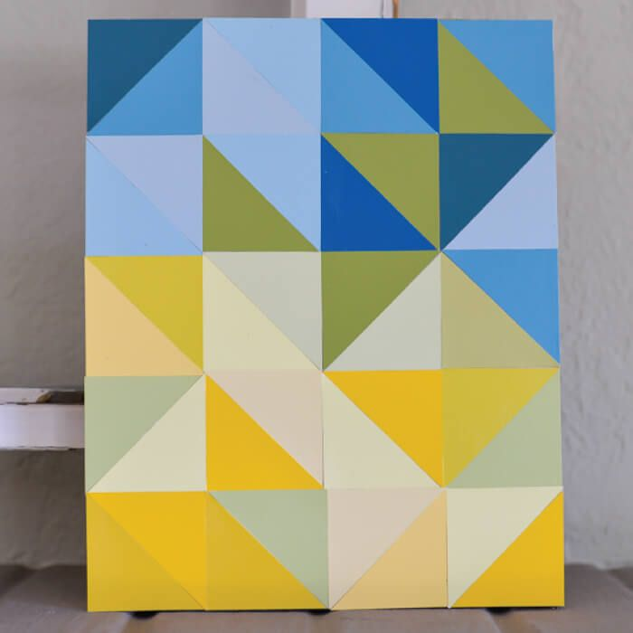 This DIY paint chip artwork is a fun way to use paint chips after ...