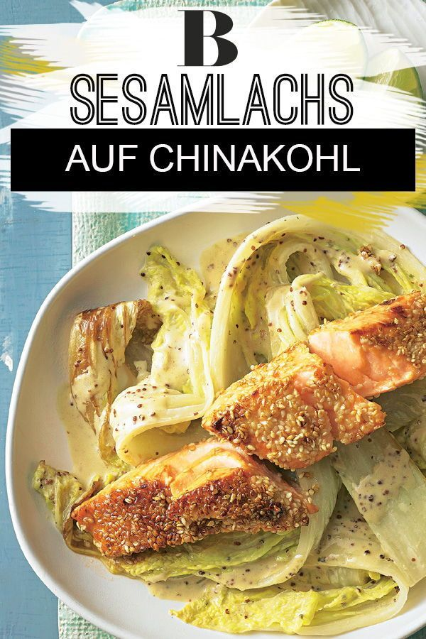 Lachs mit Sesam auf Chinakohl – Carey&CleanEatingS