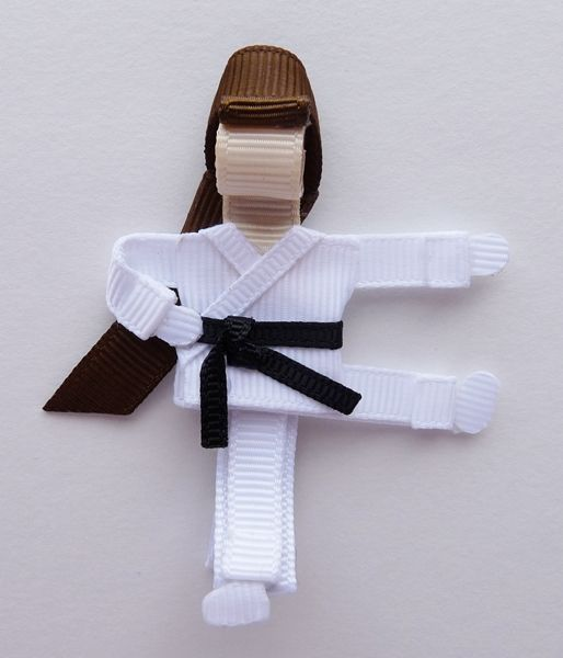 karate kid bow - just have to figure out how to change out the belt to match my girls