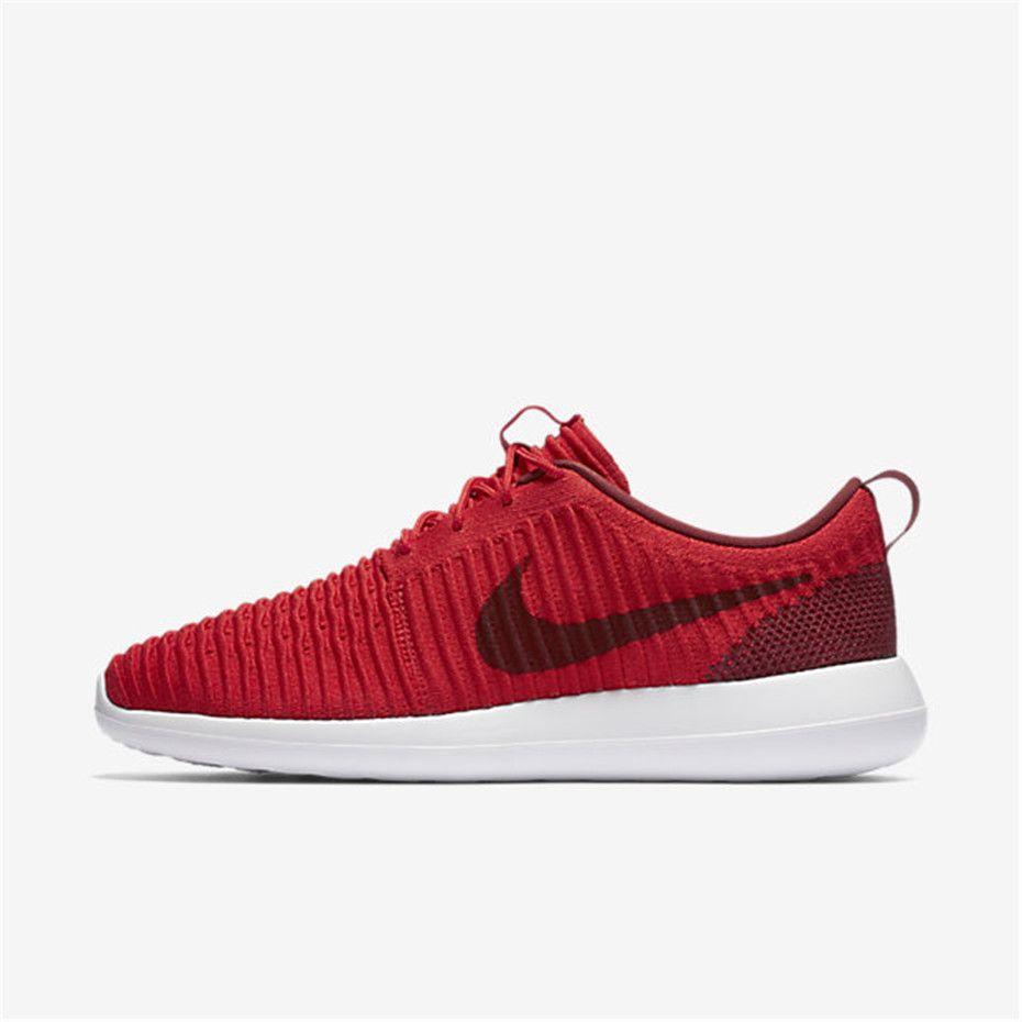 Nike Roshe Two Flyknit Men's Shoe Size 13 (Red) - Clearance Sale