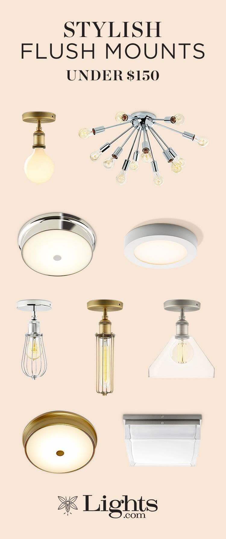 Office hallway lighting  Flush mounts are perfect for adding general bright light to a