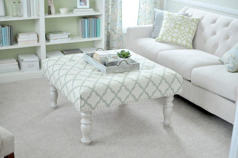 upholstered-ottoman-02   D.I.Y.   Pinterest   Tapizado, Bricolaje y ...