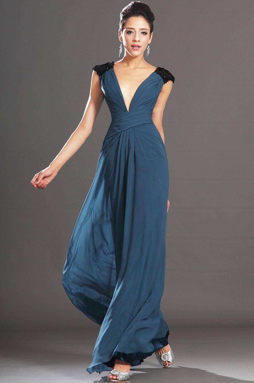 Edressit new sexy deep vneckline sequins evening dress
