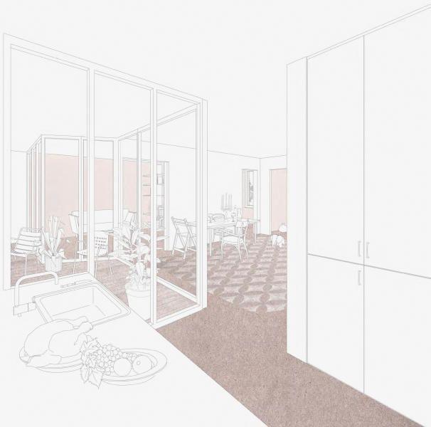 Suche Architekten raffinierte räumliche beziehungen kompensieren den engen grundriss