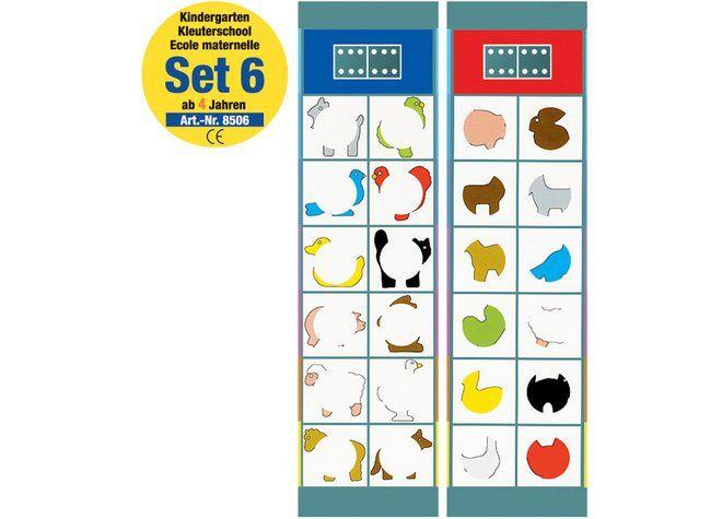 flocards kindergarten set 6, kartensatz, ab 4 jahre
