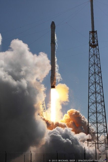 Espresso Machine Among Cargo Safely Launched to ISS Aboard SpaceX Dragon. Falcon 9 Rocket Lands on Droneship but Tips Over...