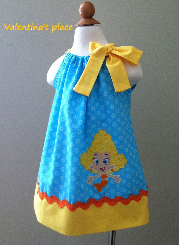 bubble guppies dress! | Livie\'s Bubble Guppies 2nd birthday ...