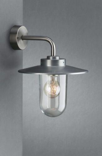 Stylish Vancouver Outdoor Wall Lantern Stainless Steel