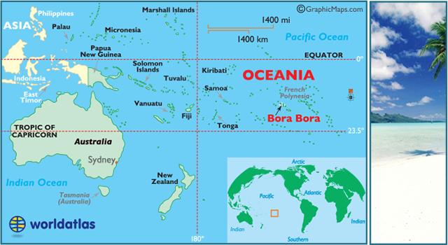 Bora Bora Map / Geography of Bora Bora/ Map of Bora Bora ...