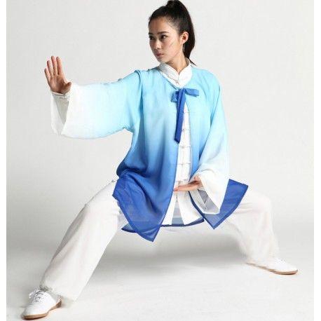 0ca5b282a Wudang Transparent Blue Overcoat   Martial Arts   Blue, Sleeves ...