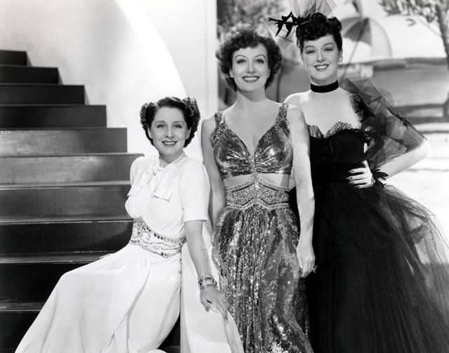 Norma Shearer, Joan Crawford and Rosalind Russell - three very dynamic women in a publicity shot for the film, The Women (1939)