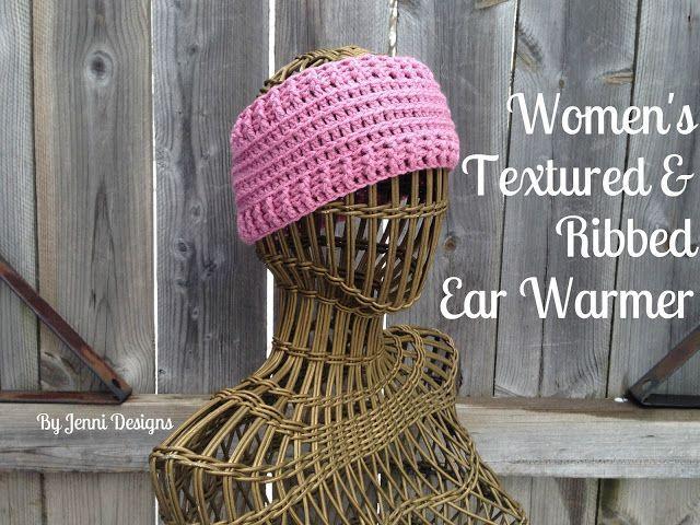 Free Crochet Pattern: Women\'s Textured & Ribbed Ear Warmer