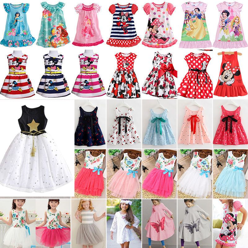Toddler Kids Girl Flower Tutu Dress Lace Tulle Party Bridesmaid Pageant Dresses