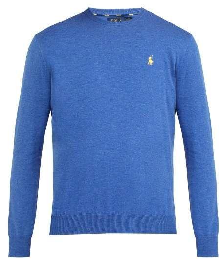 bordado de Logo Polo Lauren algodón hombre para Azul Ralph Suéter wYwCqIp 3f2c1aa6fb21