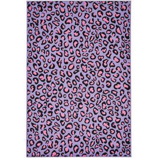 Purple Leopard Print Area Rug 5 X 7 Overstock Com