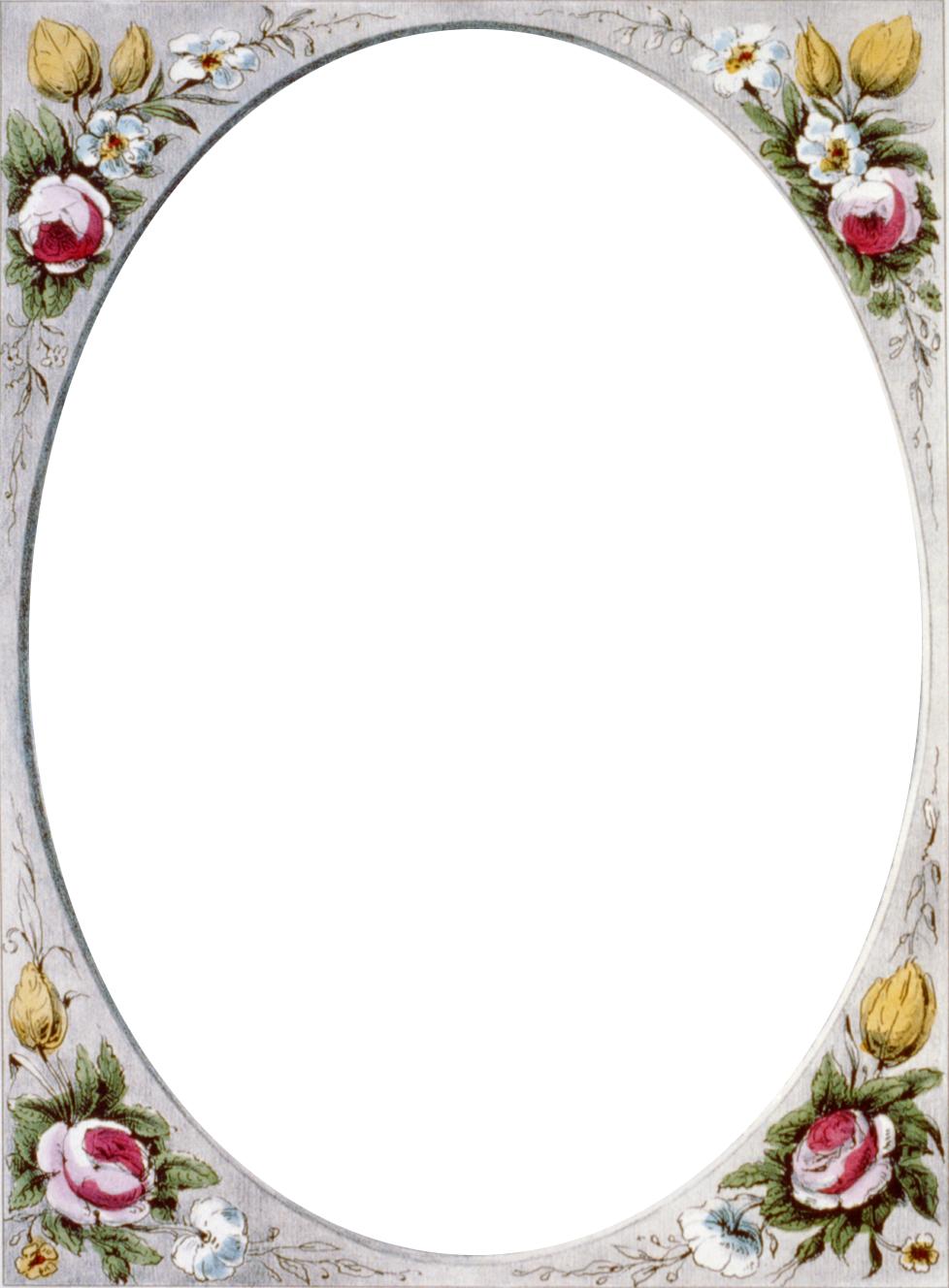 Floral Vintage Border Frame