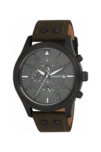 75cb4b2f5c2 Sebago Multifunction Dark Olive Watch for Him