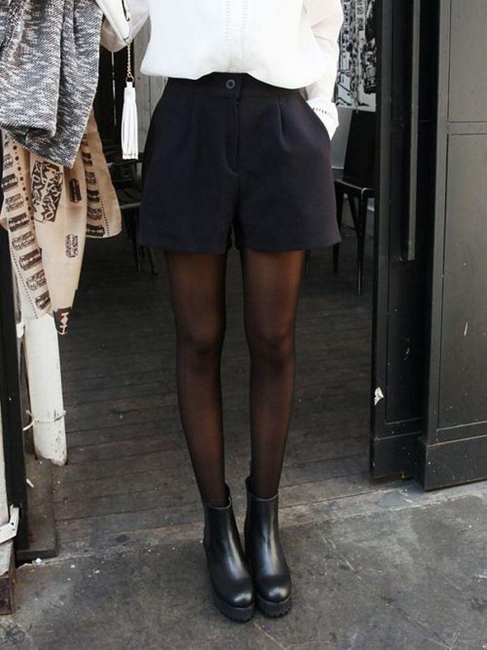 Come indossare gli shorts durante la stagione fredda
