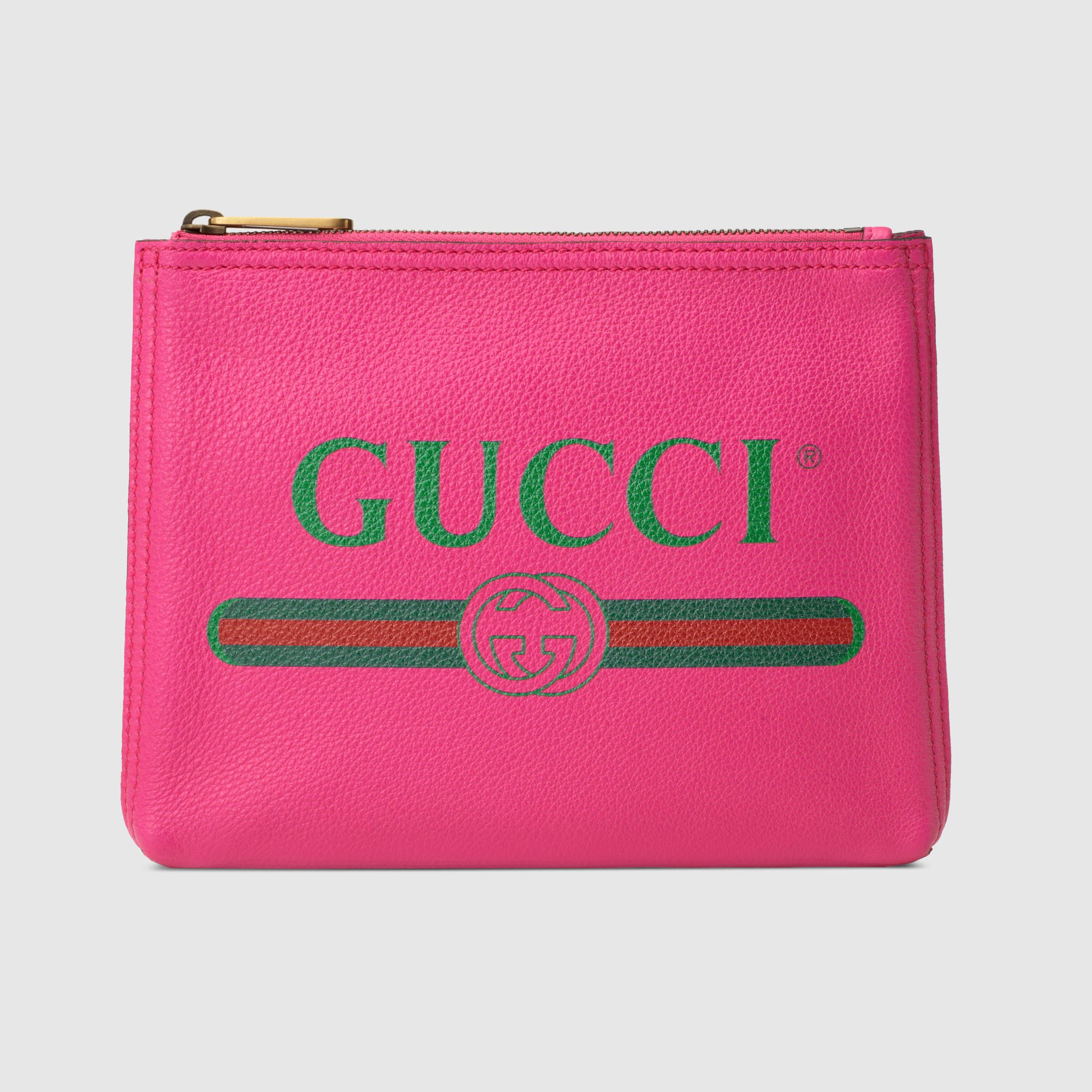 81b3255032 Gucci - Print leather small portfolio | SMALL LEATHER GOODS/TRAVEL ...