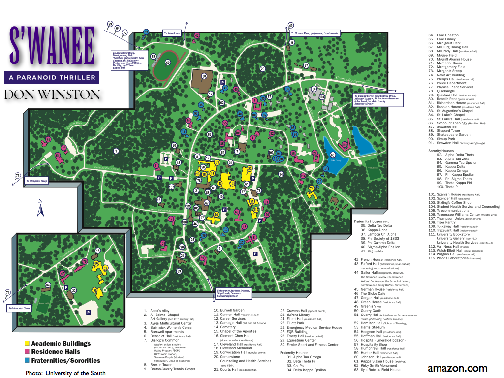 Sewanee Map .amazon.com/dp/B00AEH3DZ8 | S'wanee: A Paranoid