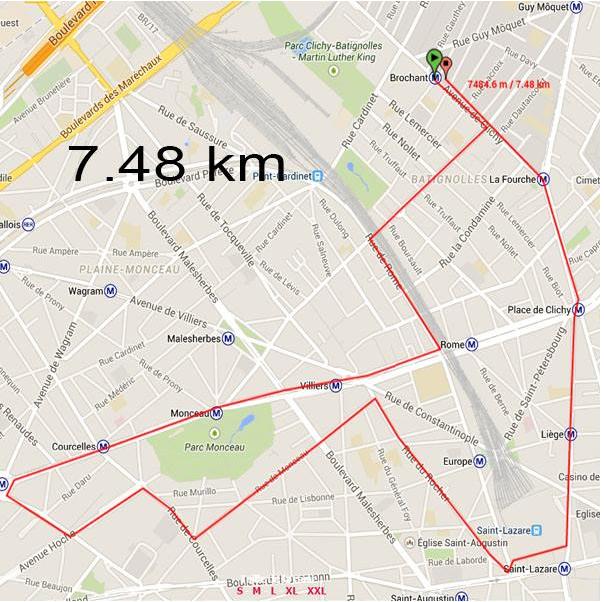 Run 2 de la #boostbatignolles 7.48Km de prévu au programme ce soir