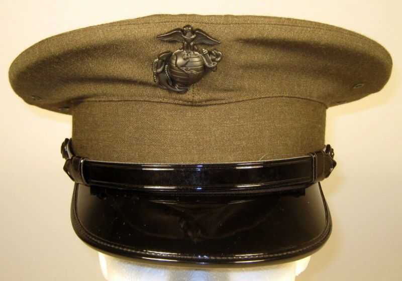 USMC US Marine Corps Male Enlisted Alpha Service Dress Hat Cap Cover 6 7 8  or 55 bcf5cfe24d6f