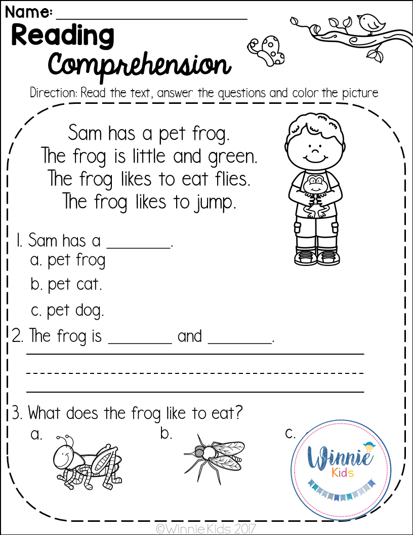 Kindergarten Reading Comprehension Passages is a set of 20