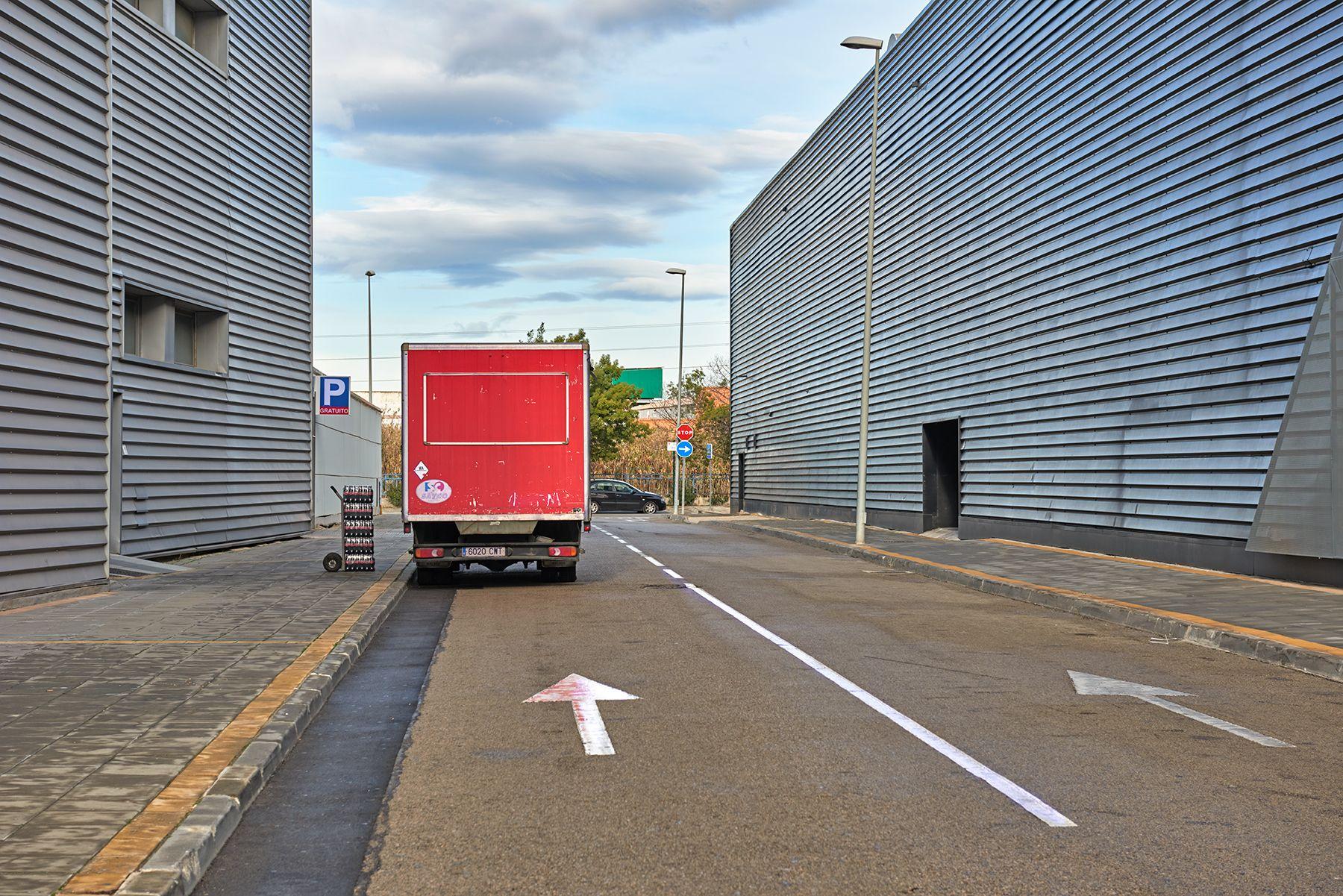 El camión rojo