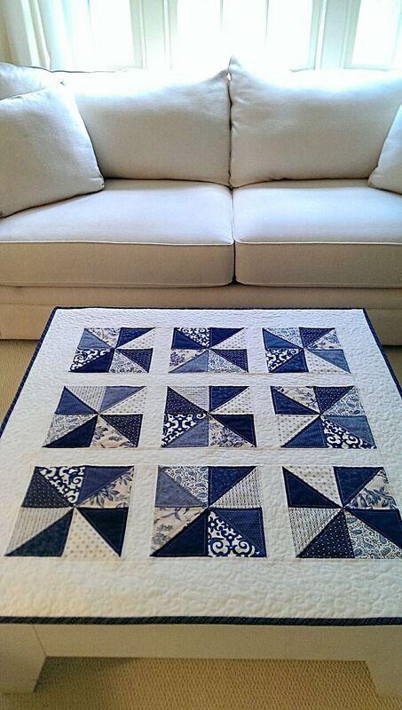 Pinwheel Quilt Pattern PDF Baby Quilt Patterns Easy Quilt Patterns Christmas Quilt Patterns Table Runner Beginner Quilt Pattern #pdfpatterns