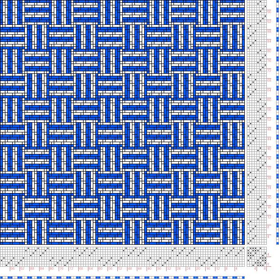 draft image: Karierte Muster Pl. X Nr. 10, Die färbige Gewebemusterung, Franz Donat, 8S, 8T