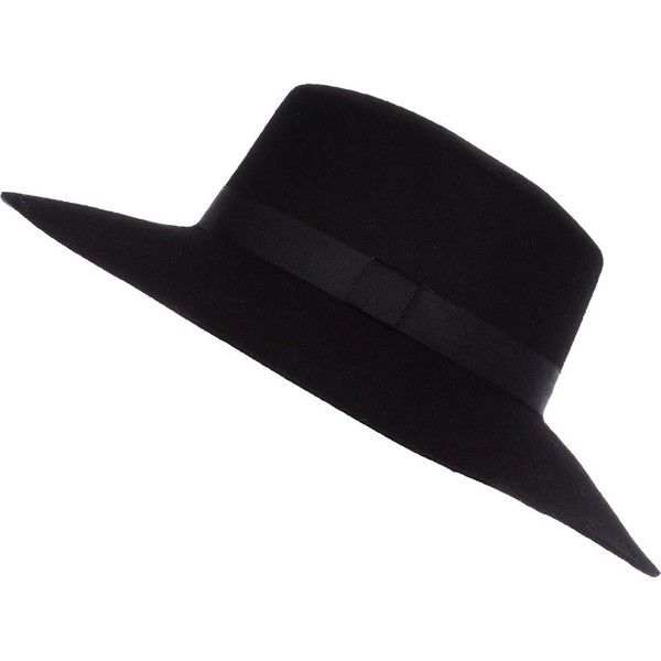 e08db828 River Island Black felt shaker hat ($24) ❤ liked on Polyvore featuring  accessories, hats, headwear, black, sale, women, river island hat, urban  hats, felt ...