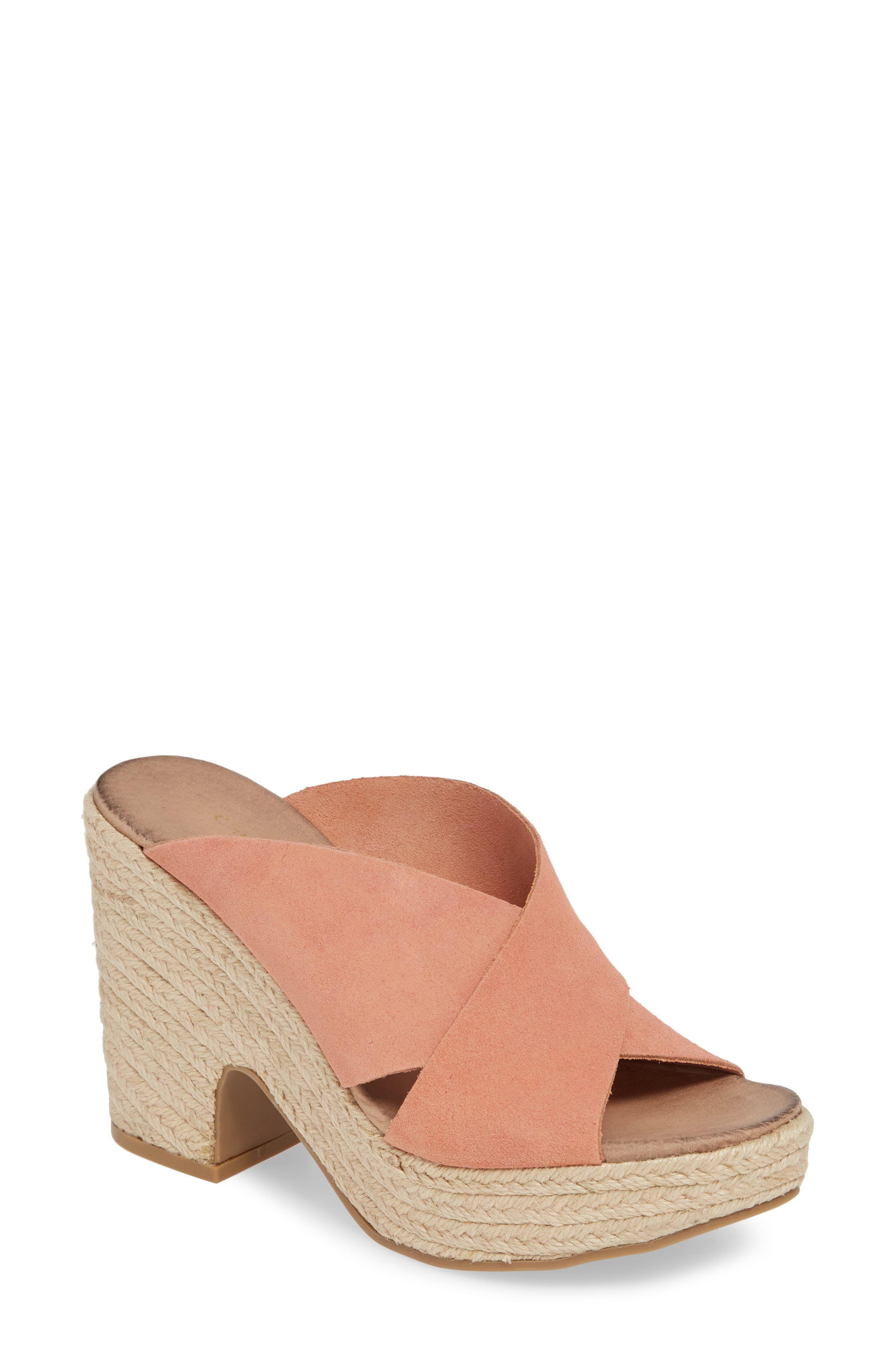 Women S Chinese Laundry Quay Platform Sandal Size 7 5 M Pink