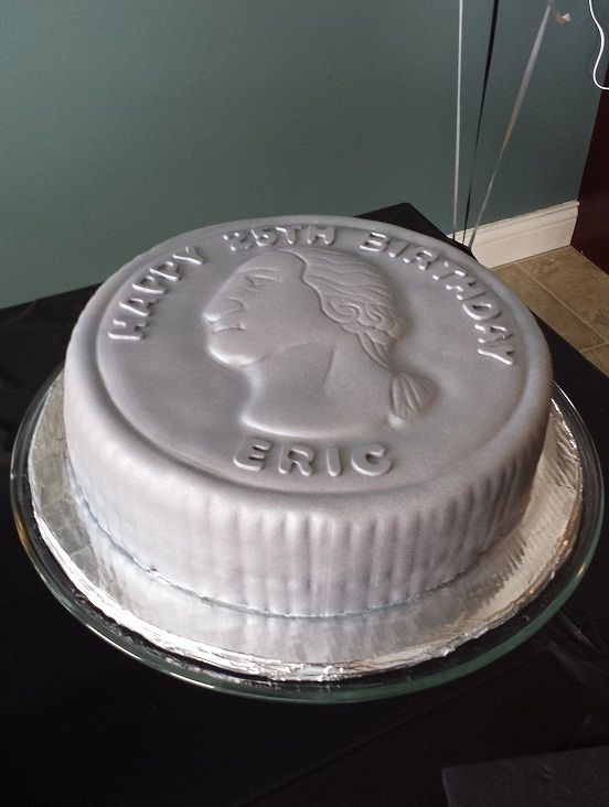 Quarter Century Birthday Cake Cake I Made For My Husbands 25th