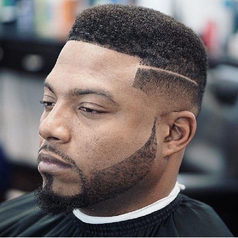 Fade Haircuts For Black Men With Shaved Part Clean Cut Low Fade