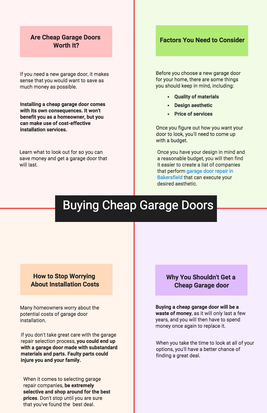 Buying Cheap Garage Doors Precision Doors Httpwww