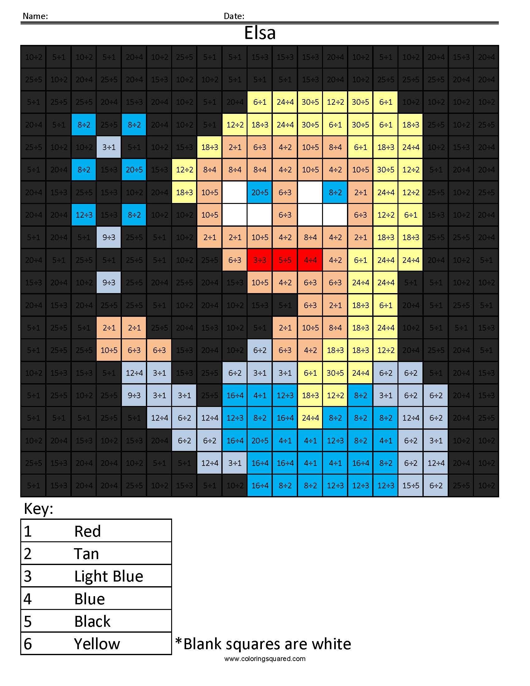 Disney Princess Multiplication And Division