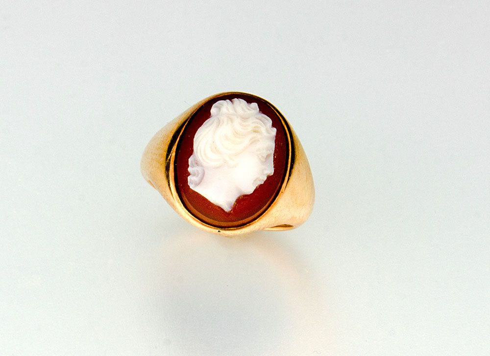Victorian hard stone cameo ring 14k by SearchEndsHere on Etsy