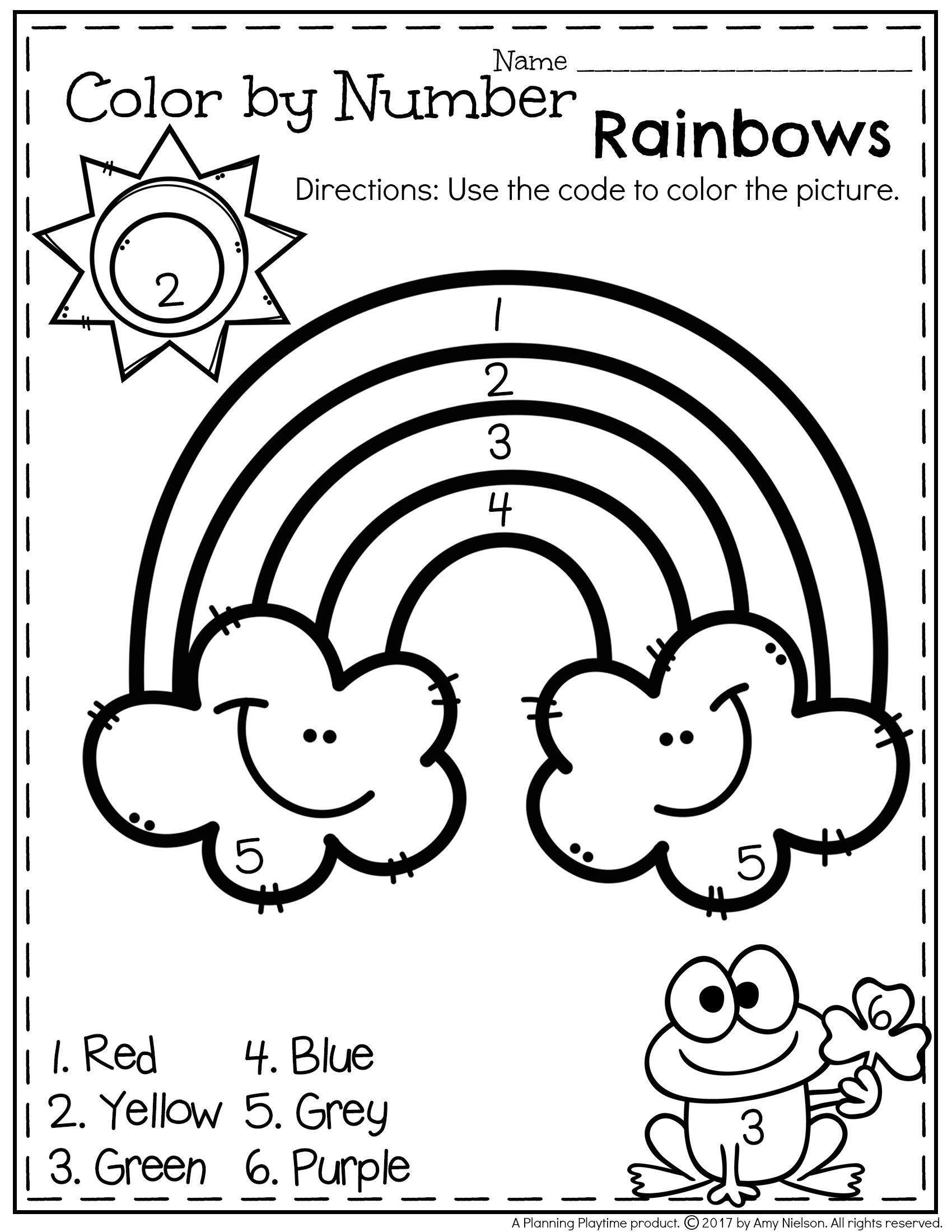 Rainbow Fish Printable Worksheets March Preschool