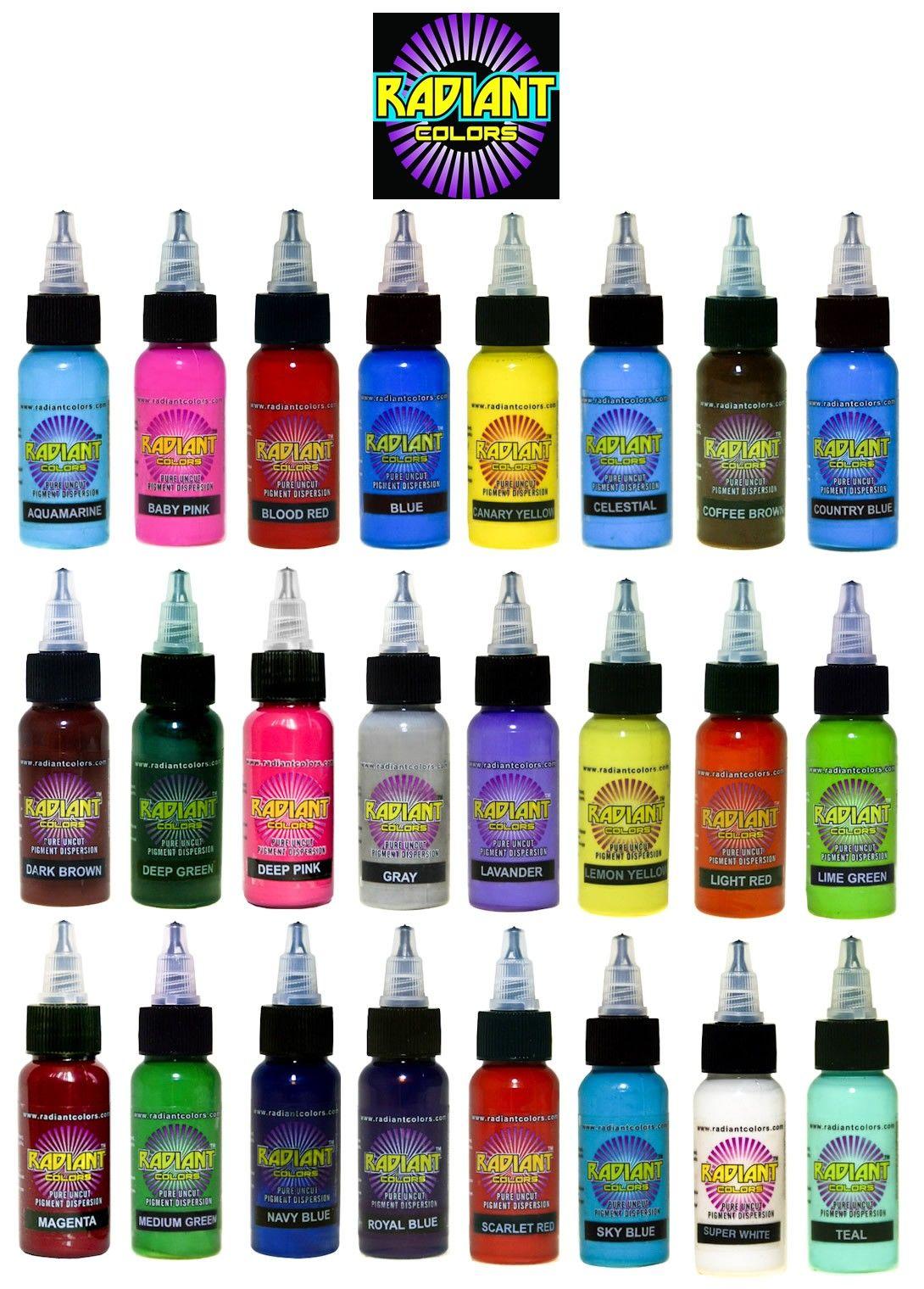 1 Bottle Of Radiant Colors Tattoo Ink 1 2 Oz Pick Ink Color