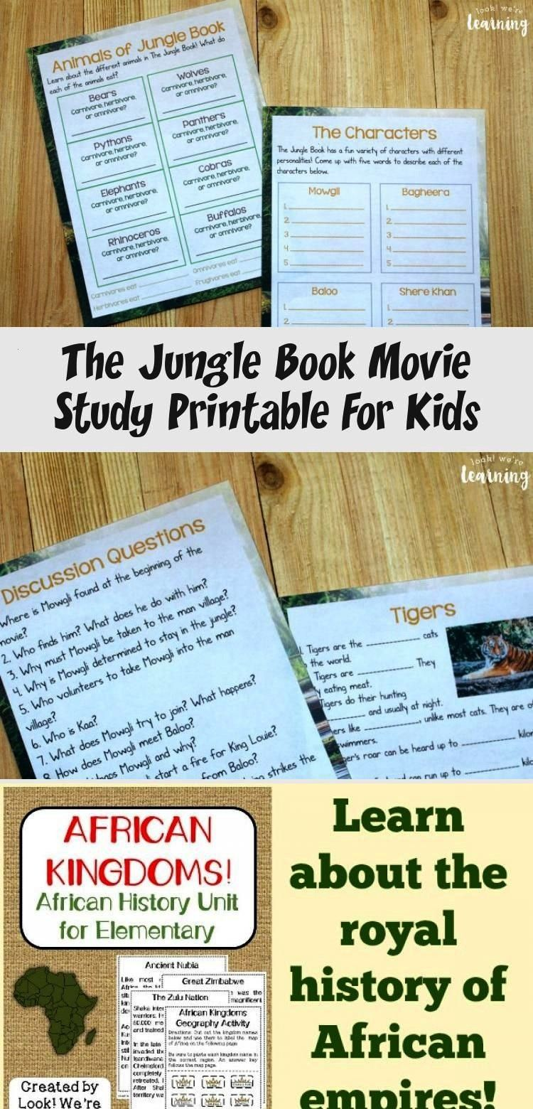a movie into a learning experience with this printable The Jungle Book movie study for kidsMake a movie into a learning experience with this printable The Jungle Book mov...