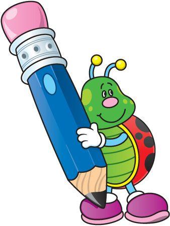 Back to school cartoon. Clip art ladybugs images