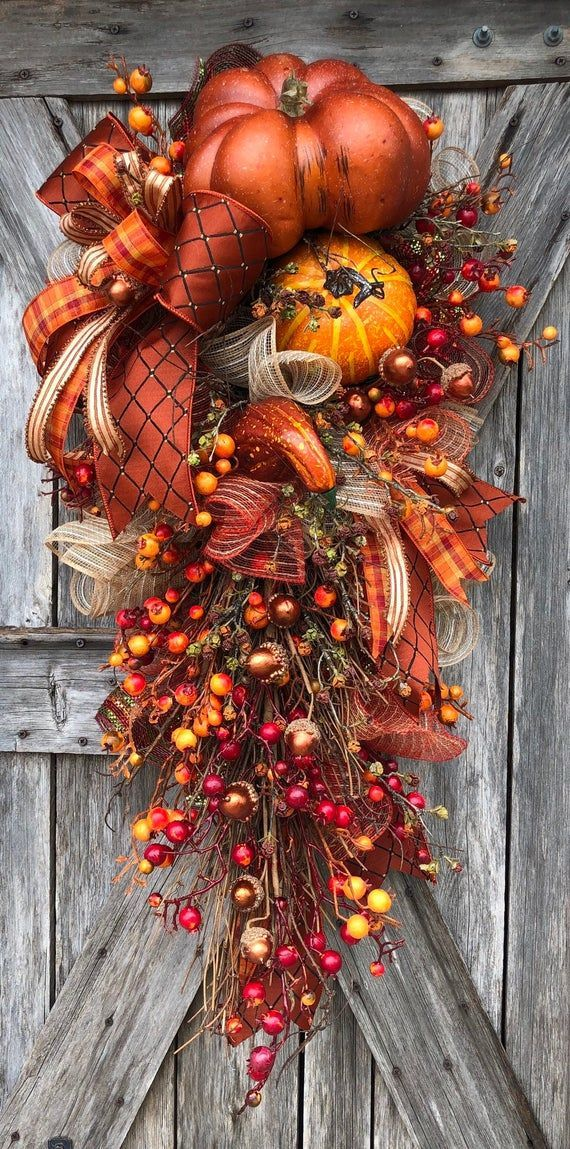 Photo of How To Video, How To Wreath, Wreath Tutorial, Autumn Wreath, Autumn Swag, Fall Wreath, Fall Swag