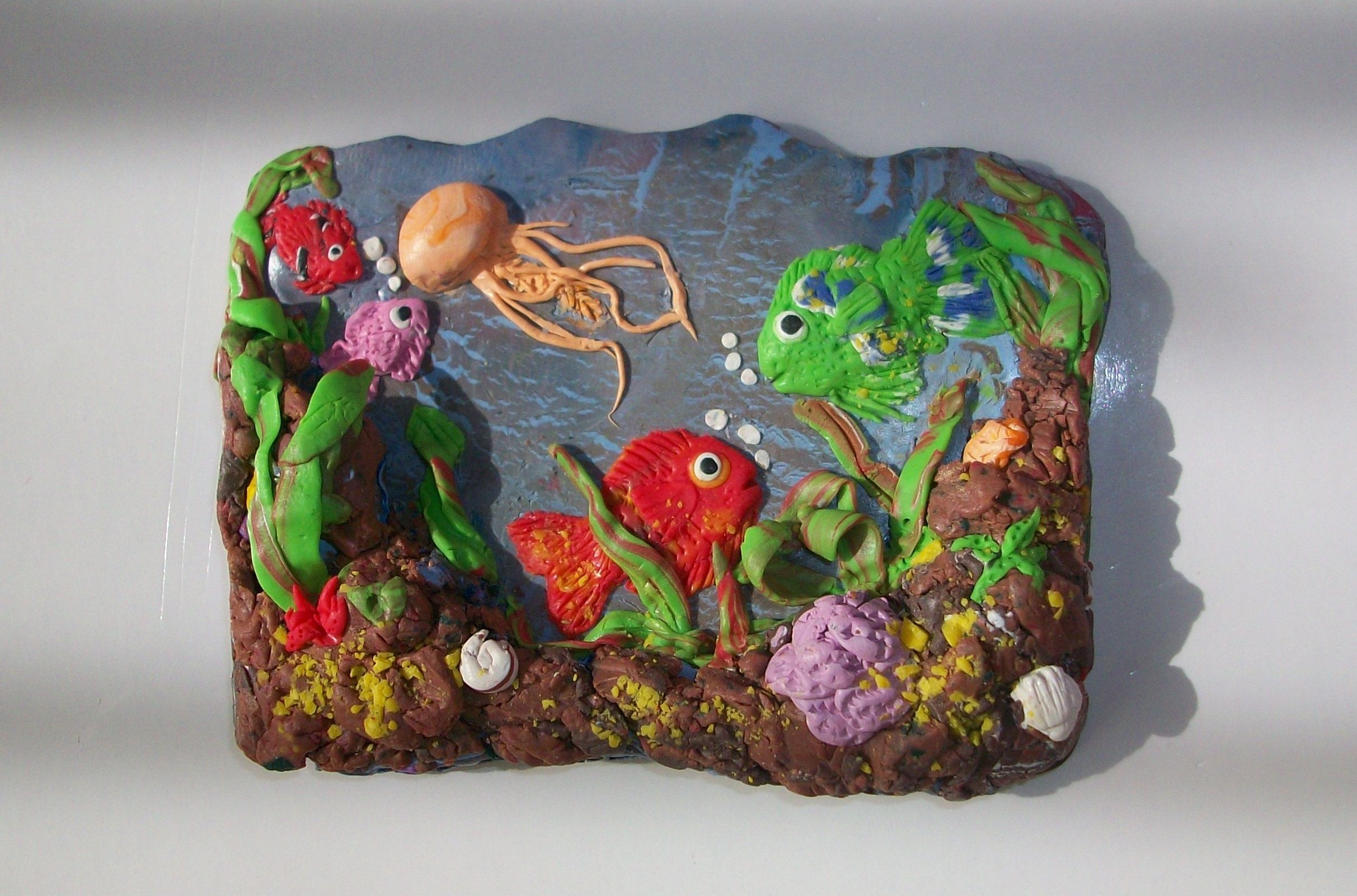 magnet polymer clay ocean fish aquarium hand made made by
