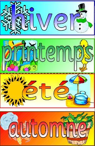 mfl french resource the seasons printable posters